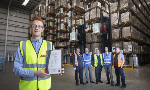 TOP AA STORAGE AND DISTRIBUTION GRADING FOR WREXHAM DISTRIBUTION FIRM