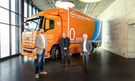 Gebrüder Weiss tests its first hydrogen truck