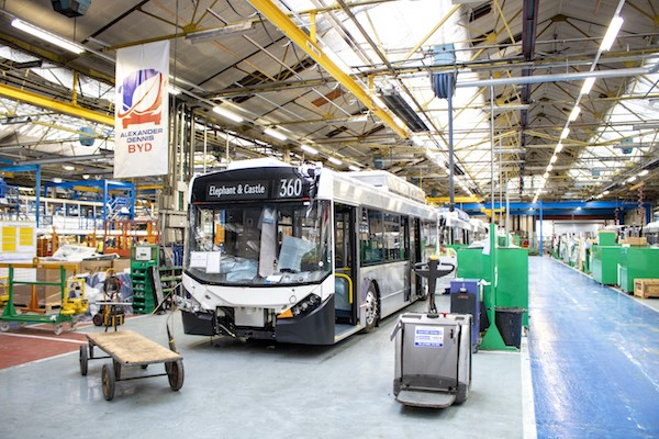 BYD ADL partnership accelerates electrification with the design and assembly of electric bus chassis in the UK