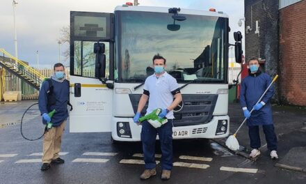 85-vehicle strong fleet kept on the road by NHS Deep Cleaning and Advisory Service