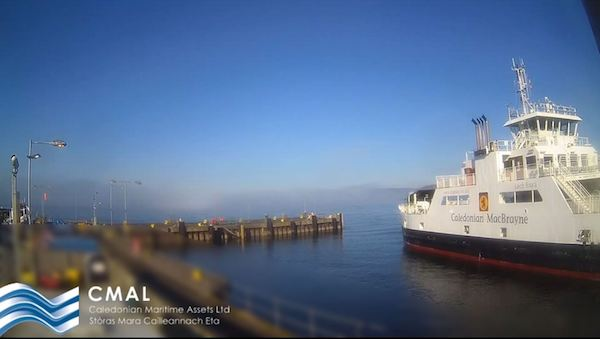Webcam installed at Largs Ferry Terminal