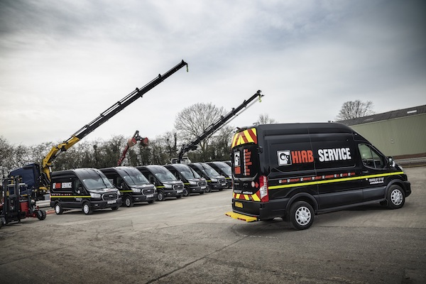 HIAB STRENGTHENS SERVICE SUPPORT FLEET WITH 12 BESPOKE VANS