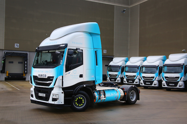 10 new IVECO Stralis natural gas trucks support Primark's environmental strategy to reduce CO2 emissions