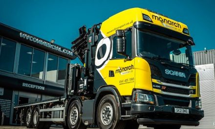 MONARCH TRANSPORT EXTENDS ITS OFFERING WITH FIRST CRANE TRUCK FROM MV COMMERCIAL