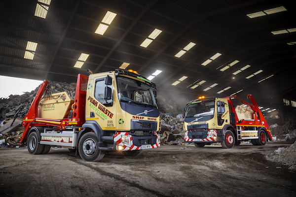 A TRIO OF NEW VOLVO SKIP LOADERS ARRIVE AT PEAK WASTE RECYCLING