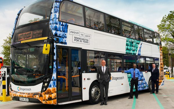 STAGECOACH MANCHESTER CELEBRATES 25 YEARS WITH LIVERY STARRING LONG SERVING STAFF