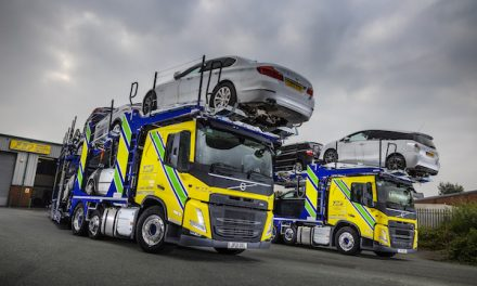 NEW VOLVO FM CAR TRANSPORTERS RAISE THE BAR AT J&P VEHICLE  DELIVERIES